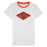 Vêtements Garçon T-shirts manches courtes Guess BARORA Blanc