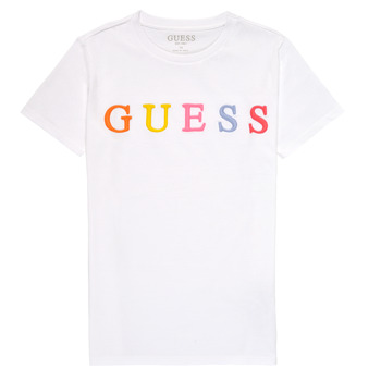 Vêtements Fille T-shirts manches courtes Guess COLUMBIA Blanc