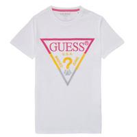 Vêtements Garçon T-shirts manches courtes Guess MAXINA Blanc