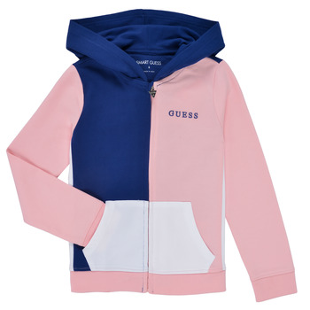 Vêtements Fille Sweats Guess EAMERICA Blanc / Rose