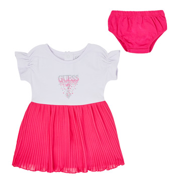 Vêtements Fille Robes courtes Guess TESSI Blanc / Rose