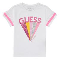 Vêtements Fille T-shirts manches courtes Guess CANELLA Blanc