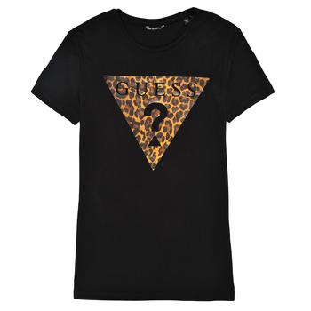 Vêtements Fille T-shirts manches courtes Guess J1RI27-K9MV0-P954 Noir