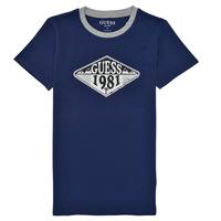 Vêtements Garçon T-shirts manches courtes Guess CELEST Marine