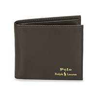 Sacs Homme Portefeuilles Polo Ralph Lauren GLD FL BFC-WALLET-SMOOTH LEATHER Noir