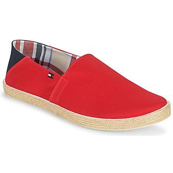 Chaussures Homme Espadrilles Tommy Hilfiger EASY SUMMER SLIP ON Rouge