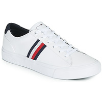 Chaussures Homme Baskets basses Tommy Hilfiger CORPORATE LEATHER SNEAKER Blanc