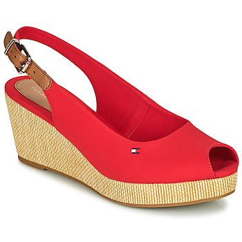 Chaussures Femme Sandales et Nu-pieds Tommy Hilfiger ICONIC ELBA SLING BACK WEDGE Orange