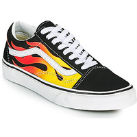 Chaussures Baskets basses Vans OLD SKOOL Noir / Orange