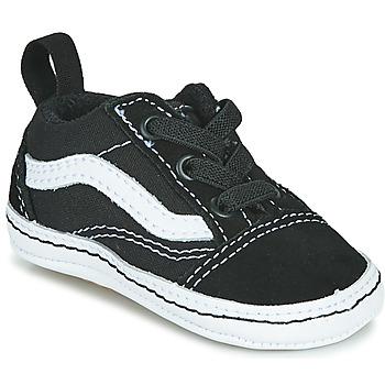 Chaussures Enfant Baskets basses Vans OLD SKOOL CRIB Noir / Blanc