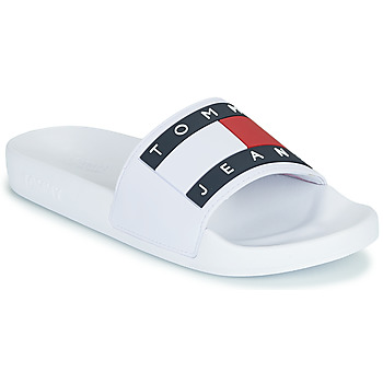 Chaussures Femme Claquettes Tommy Jeans TOMMY JEANS FLAG POOL SLIDE Blanc