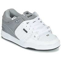 Chaussures Homme Chaussures de Skate Globe FUSION Blanc / Gris