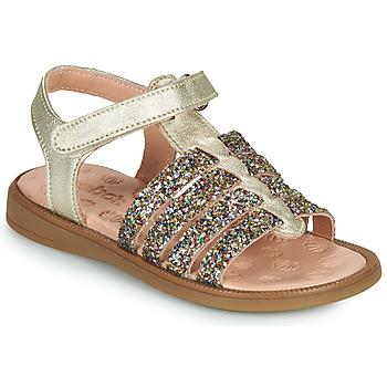 Chaussures Fille Sandales et Nu-pieds Acebo's 5498GE-PLATINO-J Doré