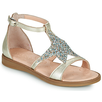 Chaussures Fille Sandales et Nu-pieds Acebo's 9895GE-PLATINO-J Doré