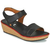 Chaussures Femme Sandales et Nu-pieds Art CAPRI Noir