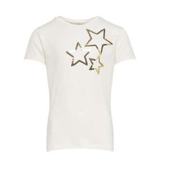 Vêtements Fille T-shirts manches courtes Only KONMOULINS STAR Blanc