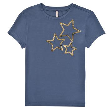 Vêtements Fille T-shirts manches courtes Only KONMOULINS STAR Bleu