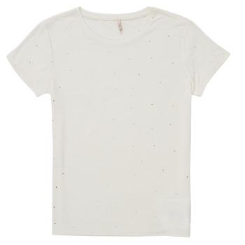 Vêtements Fille T-shirts manches courtes Only KONMOULINS Blanc