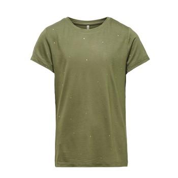 Vêtements Fille T-shirts manches courtes Only KONMOULINS Kaki