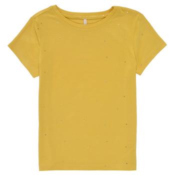 Vêtements Fille T-shirts manches courtes Only KONMOULINS Jaune
