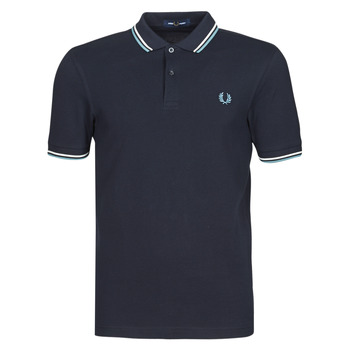 Vêtements Homme Polos manches courtes Fred Perry TWIN TIPPED FRED PERRY SHIRT Marine / Blanc / Bleu