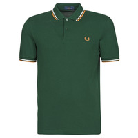Vêtements Homme Polos manches courtes Fred Perry TWIN TIPPED FRED PERRY SHIRT Vert