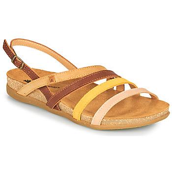 Chaussures Femme Sandales et Nu-pieds El Naturalista ZUMAIA Marron / Jaune / Rose