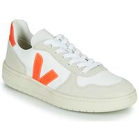 Chaussures Baskets basses Veja V-10 Blanc / Orange