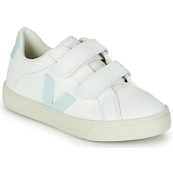 Chaussures Fille Baskets basses Veja SMALL ESPLAR VELCRO Blanc / Bleu / Rouge