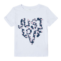 Vêtements Fille T-shirts manches courtes Name it NKFTROLLAN Blanc