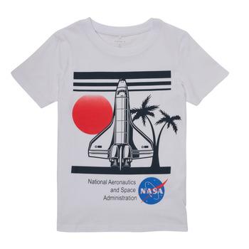Vêtements Garçon T-shirts manches courtes Name it NASA Blanc