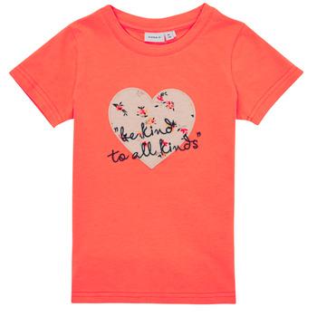 Vêtements Fille T-shirts manches courtes Name it NMFDELFIN TOP Corail