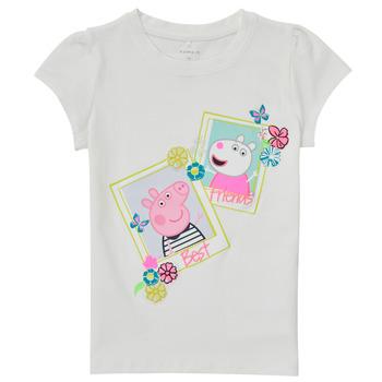 Vêtements Fille T-shirts manches courtes Name it PEPPAPIG Blanc