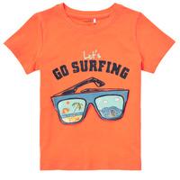Vêtements Garçon T-shirts manches courtes Name it NMMFANO Orange