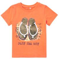 Vêtements Garçon T-shirts manches courtes Name it NMMFASHO Orange
