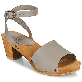 Chaussures Femme Sandales et Nu-pieds Sanita YARA Gris