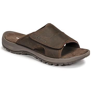 Chaussures Homme Mules Merrell SANDSPUR II SLIDE Marron