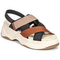 Chaussures Femme Sandales et Nu-pieds Vagabond Shoemakers ESSY Blanc / Rouille / Noir