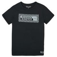 Vêtements Garçon T-shirts manches courtes Teddy Smith T-VANY Noir