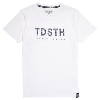 Vêtements Garçon T-shirts manches courtes Teddy Smith T-MAX Blanc