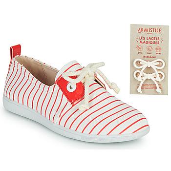 Chaussures Enfant Baskets basses Armistice STONE ONE Blanc / Rouge