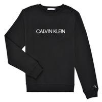 Vêtements Enfant Sweats Calvin Klein Jeans INSTITUTIONAL LOGO SWEATSHIRT Noir