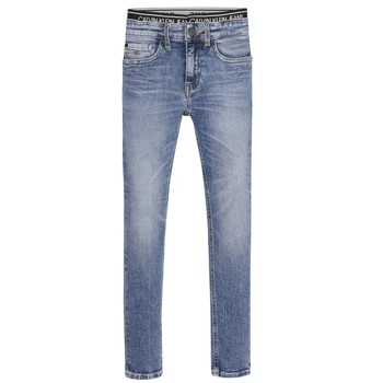 Vêtements Garçon Jeans skinny Calvin Klein Jeans SKINNY VINTAGE LIGHT BLUE Bleu