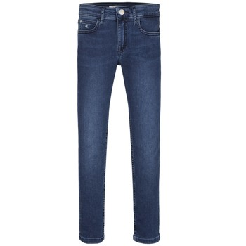 Vêtements Fille Jeans skinny Calvin Klein Jeans SKINNY ESS ROYAL BLUE Bleu