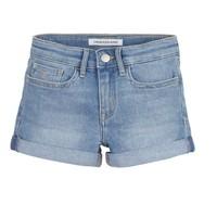 Vêtements Fille Shorts / Bermudas Calvin Klein Jeans SLIM SHORT ESS Bleu