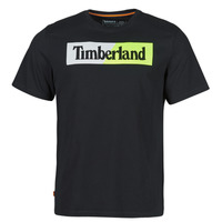 Vêtements Homme T-shirts manches courtes Timberland SS KENNEBEC RIVER PUFFED JERSEY CREW LINEAR REGULAR Noir