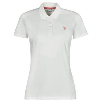Vêtements Femme Polos manches courtes U.S Polo Assn. LOGO POLO SS Blanc