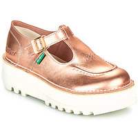 Chaussures Femme Ballerines / babies Kickers KICKOUSTRAP Rose / Metal