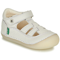 Chaussures Fille Ballerines / babies Kickers SUSHY Blanc