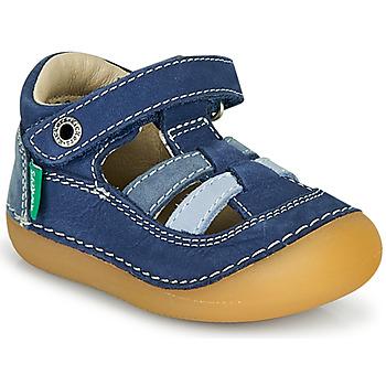 Chaussures Garçon Sandales et Nu-pieds Kickers SUSHY Bleu